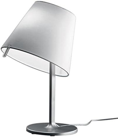 Artemide melampo ,lampada da tavolo,in alluminio e  paralume in satin di seta