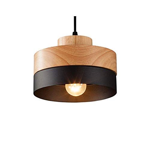 Nordic Creative 1-4 Head Solid Wood Round/Square Pendant...