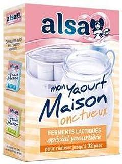 Alsa ferments lactiques spécial yaourtière - mon yaourt maison onctueux
