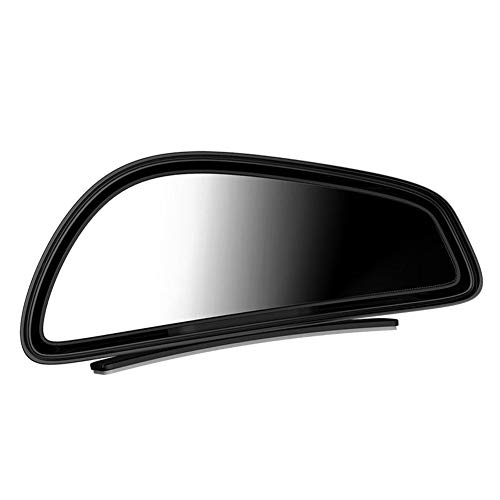 カーミラー、360広角凸ガラスカーブラインドバックビュー補助ミラー、車の車両サイドブラインドスポットブラインドスポットミラー、1ペア,黒