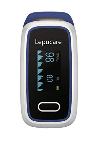 Lepucare Saturimetro da Dito Professionale Portatile - Con Display OLED a Colori per Misurazione Saturazione di Ossigeno (SpO2), Frequenza Cardiaca (PR) e Indice di Perfusione (PI)