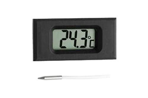 TFA Dostmann digitale inbouwthermometer, met sensorkabel, meting van de omgevingstemperatuur of vloeistoffen