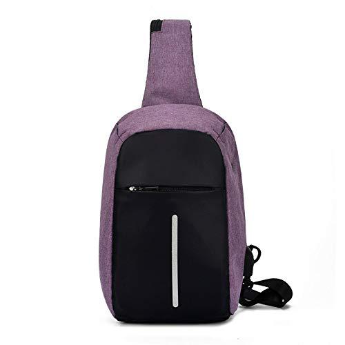 Mochila cómoda y Duradera Impermeable Bolso Bandolera con Carga USB para Hombre, Bolso Antirrobo para Hombre, para Mujer