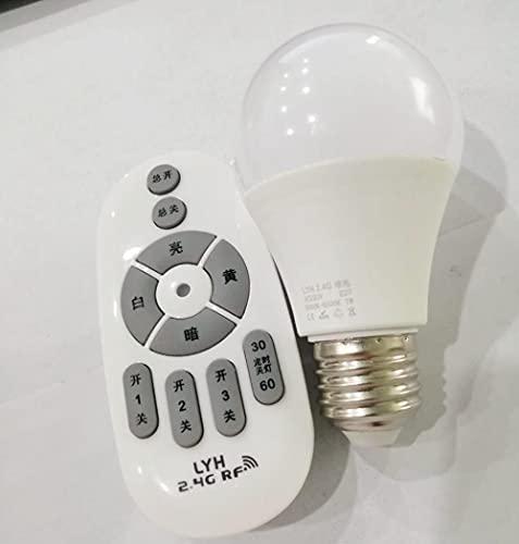 Lampadinetelecomando Senza Fili Modalità Luce Notturna Regolazione Continua Dell'Illuminazione Domestica-E27_7W