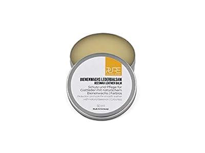 PURE Leather Studio Crema para Piel y Cuero 50ml a Base de Cera de Abeja I Bálsamo reparador incoloro I Impregna y Protege - Made in Germany