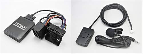 Yatour YT-M06 - Adaptador y Manos Libres Bluetooth para radios de Coche