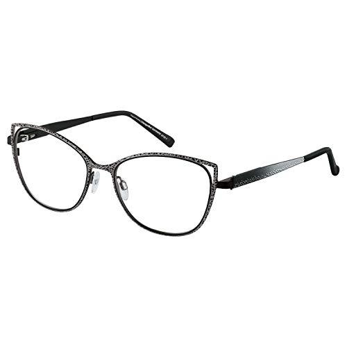 Change Me Brille 2522-1 mit Wechselbügel 8752-1 schwarz silber