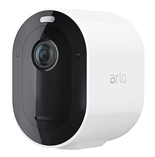 Arlo Pro4 Spotlight, cámara de vigilancia WiFi, Inalámbrico, Luz y sirena integrados, sensor de movimiento, audio bidireccional, visión nocturna de colores, no necesita de SmartHub, Blanco, VMC4050P