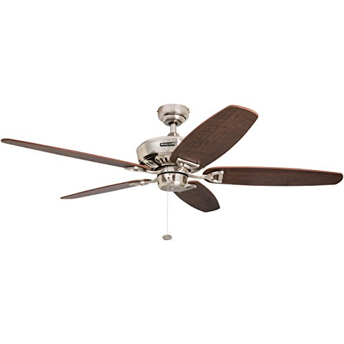 Honeywell Ceiling Fans 50194 Indoor Ceiling Fan, 52 inches, Brushed Nickel