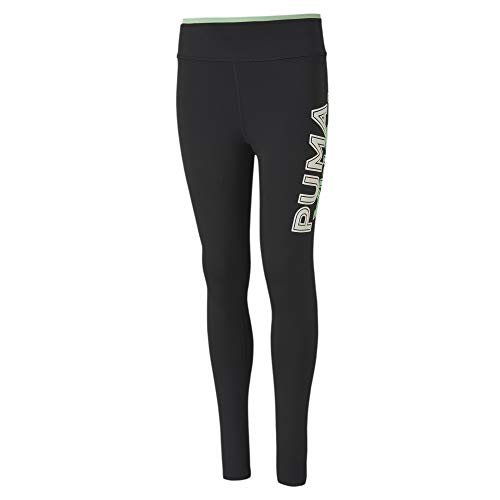 PUMA Mädchen Modern Sports G Leggings, Black/Mist Green, 152