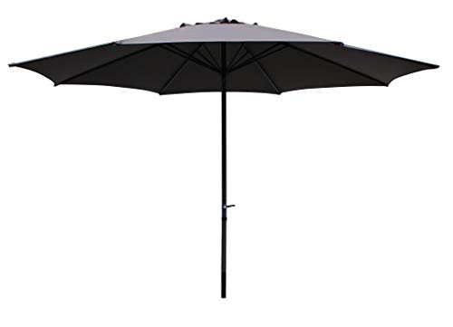 Pure Home & Garden XXL Kurbelschirm Sunny rund 400 cm anthrazit, mit UV-Schutz 40 Plus und abnehmbarem Bezug