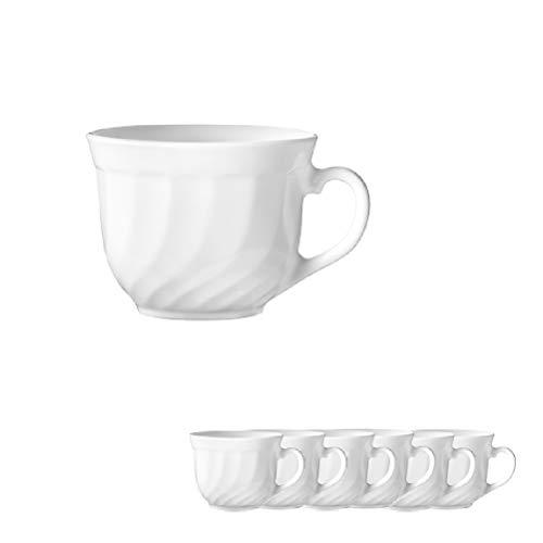 ARC INTERNATIONAL Esmeyer 441-030 6er Pack Kaffeetasse obere TRIANON Kaffeetasse mit einem Fassungsvermögen von 0,22l Hartglas Made in Europe,