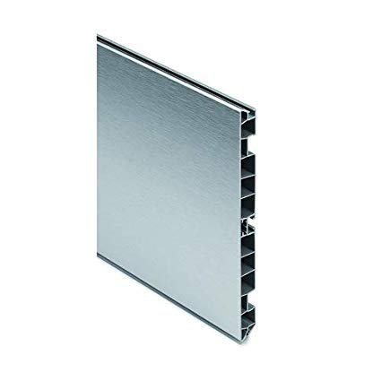 GDK DANKAMI ZÓCALO 4 Metros PVC Revestido EN Aluminio Cepillado H170