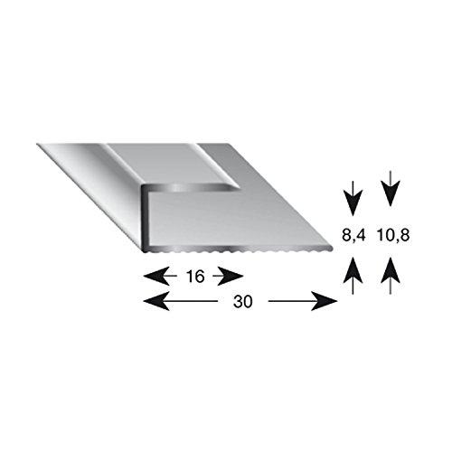 kügele gleitabsc hluss Perfil U aluminio plata anodizado 8/1000mm, 1pieza, 11080S 100