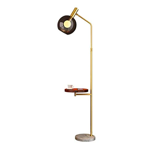 Aocean Floor Lamp with Wireless USB Charging Port Stand Reading Light Tall Pole Light with Tray Table for Office Living Room Bedroom