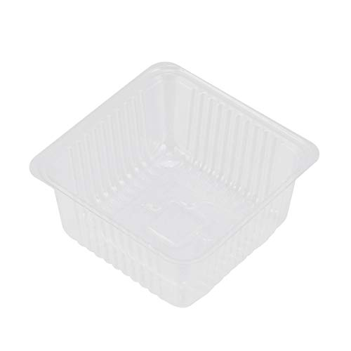 DOITOOL 200 Pcs Disposable Plastic Bread Box Transparent Cake Box Take-Out Plastic Sandwich Containers for Moon Cake Food Fruit Cupcake Bread Candy