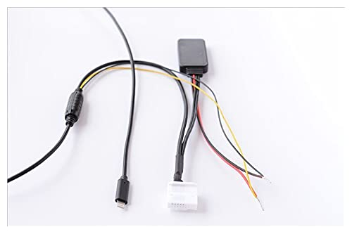 Qinndhto Bluetooth-ljud MP3 Kabel Aux Cable Iphone 7 8 x Gränssnitt Passform för Toyota Camry Corolla Reiz Highlander Vios Adaptrar