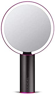 60° Rotating LED Multi-Speed Dimming Desktop Mirror HD Non-deformable Vanity Mirror Environmental Grade Material Makeup Mirror 234MM (Color : White, Size : 234mm) (Color : 234mm Black)