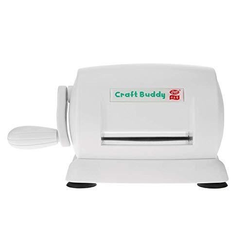 Die Cutting Embossing Machine Scrapbooking Cutter Piece Paper Cutter Die Cut Machine Home DIY Embossing Dies Tool (White)