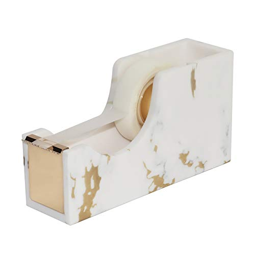 MultiBey Gold Marble Printed Tape Dispenser Gold Metal Core Office Stationery Student Supplies