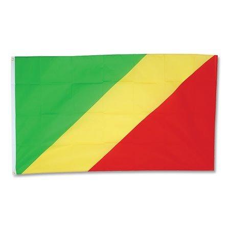 Kongo Fahne groß 90x150cm-one size