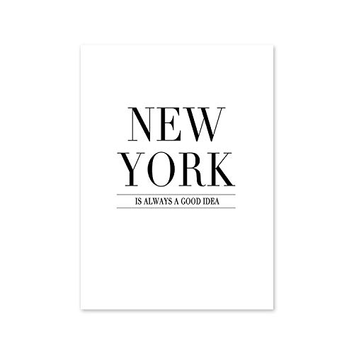shop 1994 Modern New York London Paris City Map Wall Art Picture for Living Room Black and White Posters and Prints Home Decor-05-60x80cm No Frame