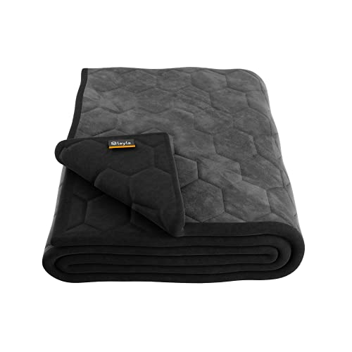 Layla Weighted Blanket with Fleecy Top Layer   300 Thread-Count   Warm Breathable Fleece Top Layer  ...