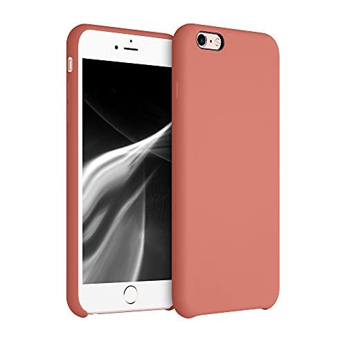 kwmobile Cover Compatibile con Apple iPhone 6 Plus / 6S Plus - Cover Custodia in Silicone TPU - Back Case Protezione Cellulare Terra di Siena