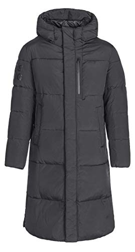 ICEbear Men's Long Down Jacket Winter Parka Quilted Coat Outerwear with Hood,Black,L