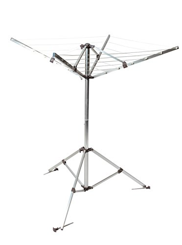 Camp Gear 6415182ca–Tendedero con 4Brazos Aluminio Gris 18x 105x 105cm