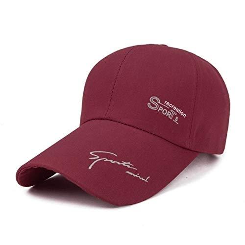 Sombreros para el Sol al Aire Libre de Verano Gorra de Pesca de Golf Impermeable de Secado rápido Gorras debéisbol Unisex Ajustables-Wine redsun Hat