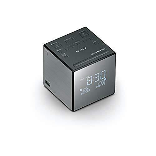 Sony XDR-C1DBP Uhrenradio (DAB/DAB+, digitalem Radioempfang, große Uhranzeige mit Helligkeitssteuerung, USB)