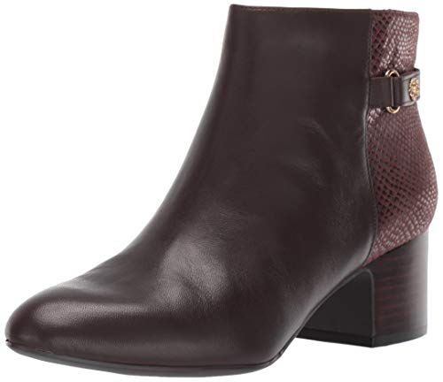 Anne Klein Women's Hilda Ankle Boot, Brown, 6.5 M US