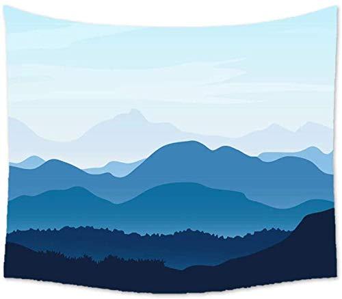 UUJJF Tapiz Colgante de pared Minimalista nórdico Dibujos animados Pico de montaña Impresión grande Tapices de tela Decoración de pared para dormitorio Sala de estar Dormitorio hogar 150x230cm