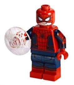 LEGO Superhéroes: Spiderman Peter Parker con máscara levantada y Escudo Web