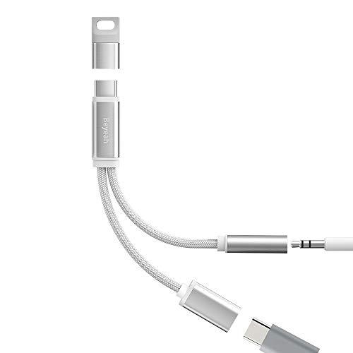 BEYEAH USB C Kopfhörer Adapter, Huawei Adapter Typ C Klinke Adapter USB C Aux Adapter für Huawei P40 Pro / P30 Pro / P20 Pro/Mate 10 Pro/Mate 20 Pro, Xiaomi Mi 9 / Mi 8, OnePlus