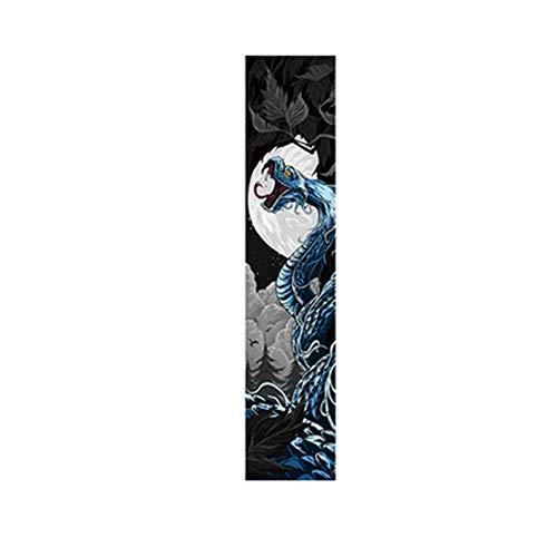 IDE Play Skateboard Griptape, Skateboard Grip Tape-Blatt 48x10 Zoll (24 Artschwarzes), Scooter Grip Tape, Longboard Griptape, Schmirgelpapier für Wellenbrett (122x26cm),Style g