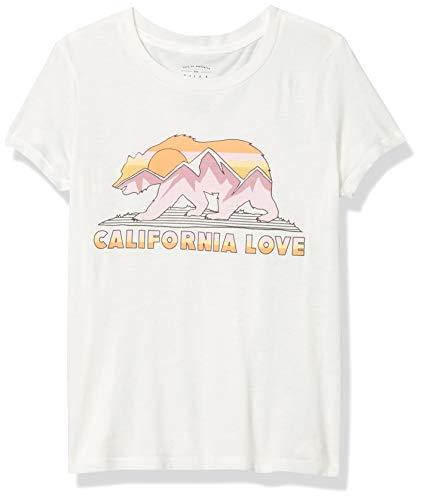 Billabong Girls' Boy Fit Branded Logo Tee, Salt Crystal, L