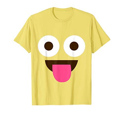 Zunge Emoji Witziges Lustig Karneval Shirt Faschings Kostüm T-Shirt