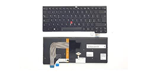 Pcprice Tastiera Originale per Lenovo THINKPAD T460S T470S RETROILLUMINATA
