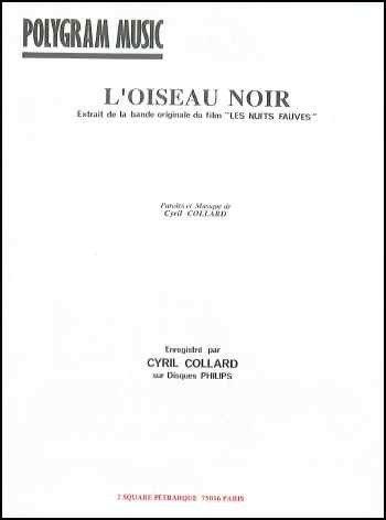 L\'OISEAU NOIR (Les nuits fauves) (partition)
