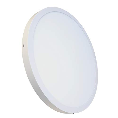 Lámpara de Techo Panel LED Superficie Redondo 60x60cm. 48W. Color Blanco Calido (3000K). 4000 lumenes. A++