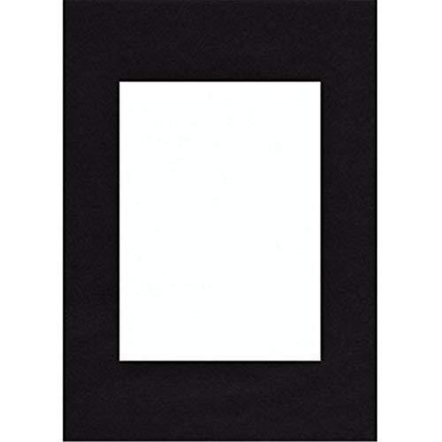 Hama Passe-partout (premium, dimensions : Extérieur : 40 cm x 50 cm / Intérieur : 28 cm x 35 cm) Noir Profond