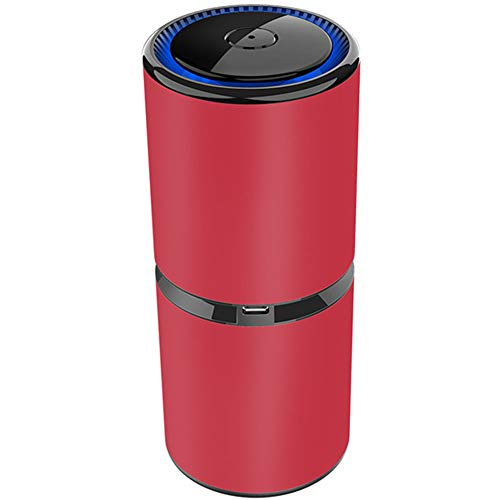 Air Revitaliser Air Purifier and Ioniser Negative Ion Generator Ionizer Eliminates 99.97% of Allergens, Germs, Purifier for Dust, Smokers, Pollen, Pet Dander, Hay Fever, Cooking Smell,Red,5rd