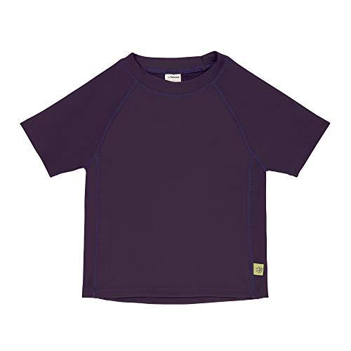 Lässig 1431020731-36 Camisa de baño de manga corta chica Protección UV 40+ /Splash & Fun Baby Short Sleeve Rashguard, Plum Jam, 36 meses, púrpura