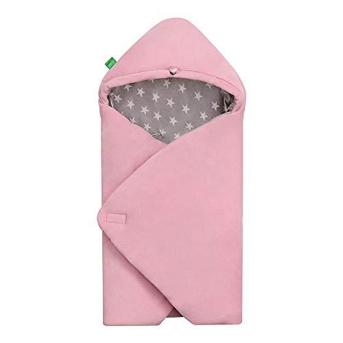 LULANDO Velours-Einschlagdecke YETI für Babyschale, 75 x 75 cm, Schlummersack für Babys, kinderfreundlich, für Jungen und Mädchen,...