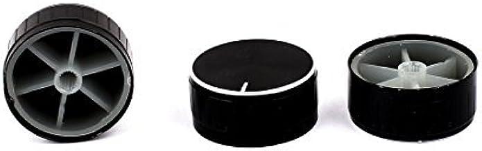 DealMux 3 stks 40mm x 6mm legering potentiometer knop mini cap gekartelde knop zwart