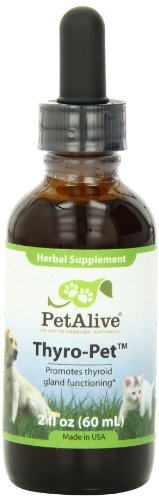 PetAlive Thyro-Pet Supports Thyroid Gland Functioning in Cats and Dogs, 59 mL