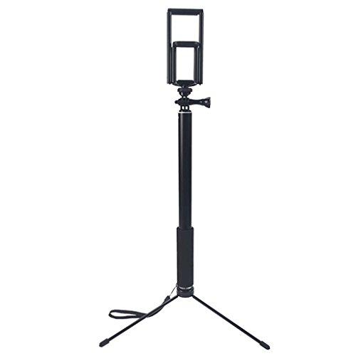 YOKING - Trípode para selfie extensible de 1,5 m / 2 m, soporte de escritorio para smartphone Tablet PC, compatible con iPhone, iPad, DSLR y Go-Pro