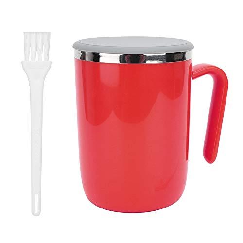Selbstrührende Kaffeebecher, Intelligente Automatische Selbstmischende Tasse für Büro/Küche/Reise/Zuhause, Lazy Person Gift - 360ML(Rot)